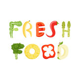 Fresh food letter Royalty Free Stock Photo