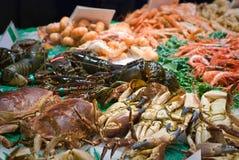 Fresh food market, Barcelona. Royalty Free Stock Photography