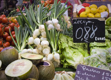 Fresh food market Stock Photography