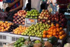 Fresh Food market in Ecuador Stock Images