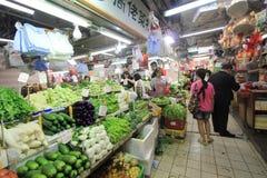 Fresh food market in Hong Kong Stock Photography