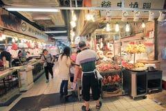 Fresh food market in Hong Kong Royalty Free Stock Images