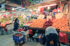 Fresh food market in Hong Kong Royalty Free Stock Photography