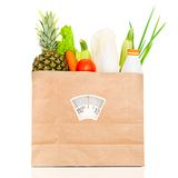 Fresh food in a paper bag Stock Photos