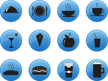 Fresh Food restaurant menu icon set. Royalty Free Stock Images
