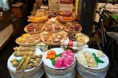 Fresh food. Stall at Kuromon-Ichiba Market, Osaka Royalty Free Stock Images