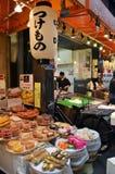 Fresh food. Stall at Kuromon-Ichiba Market, Osaka Royalty Free Stock Image