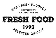 Fresh food stamp rubber grunge Royalty Free Stock Images