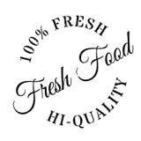 Fresh food stamp rubber grunge Royalty Free Stock Photos