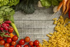 Fresh food on the table Stock Photo