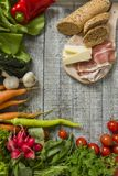 Fresh food on the table Royalty Free Stock Photos