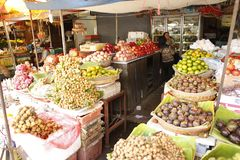 Fresh food market Cambodia. Fresh food vegetable fruit and other are sold at the Siem Reap market in Cambodia Stock Images