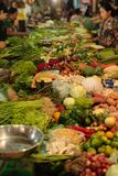 Fresh food market Cambodia. Fresh food vegetable fruit and other are sold at the Siem Reap market in Cambodia Royalty Free Stock Image