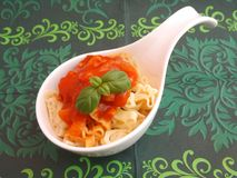 Fresh football pasta Stock Images