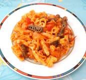 Fresh football pasta Royalty Free Stock Image