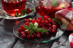 Fresh forest berries for flavored tea Royalty Free Stock Images