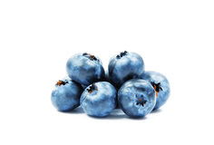Fresh Forest Blueberries Isolated on White. Stock Photography