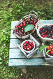 Fresh forest fruit on wood Royalty Free Stock Photo