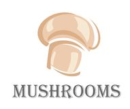 Fresh forest mushroom symbol Stock Photo