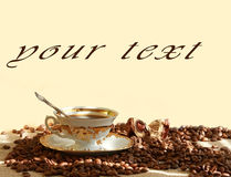 Fresh fragrant coffee Stock Images