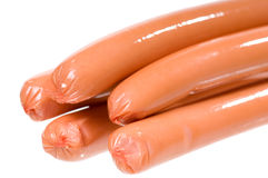Fresh frankfurters detail Stock Image