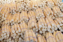 Fresh French Aspargus on a Market Stall Stock Images