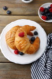 Fresh French croissant Royalty Free Stock Images