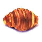 Fresh french croissant on white background Royalty Free Stock Photo