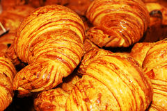 Fresh french croissants close up Stock Photography