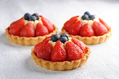 Fresh french fruit tart Royalty Free Stock Images