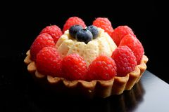 Fresh french fruit tart Stock Image