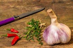 Fresh, French, red garlic Royalty Free Stock Photos