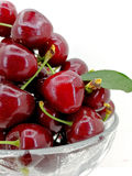 Fresh freshly picked cherries Royalty Free Stock Photography
