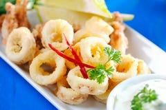 Fresh Fried Calamari Royalty Free Stock Images
