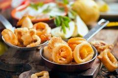 Fresh Fried Calamari Stock Photography