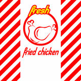 Fresh fried chicken label design Stock Images