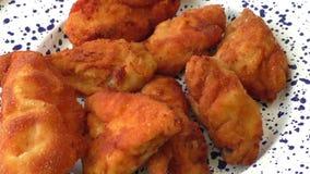 Fresh fried chicken stock footage