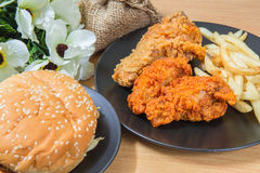 Fresh, fried chicken strips Royalty Free Stock Images