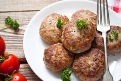 Fresh fried cutlets Royalty Free Stock Photo