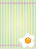 Fresh fried egg label design Stock Photos