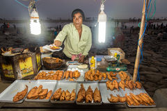 Fresh fried fish at Digha Stock Image