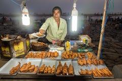 Fresh fried fish at Digha Stock Image