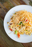 Fresh fried Pad thai. Picture of traditional thai cuisine made of fresh ingredients taken in streetfood restaurant stock photos