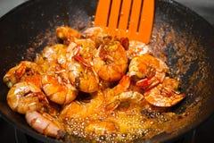 Fresh fried shrimps Stock Images
