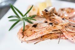 Fresh fried Shrimps Royalty Free Stock Images