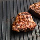 Fresh fried steak Stock Photos