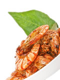 Fresh fried  tiger prawns Stock Photography