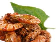 Fresh fried  tiger prawns Royalty Free Stock Photography
