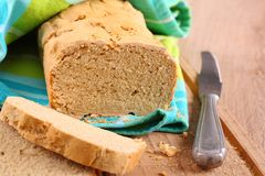 Fresh From The Oven Gluten Free Bread On A Cutting Board Royalty Free Stock Photography