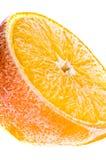 Fresh frozen fruit. In ice Stock Image